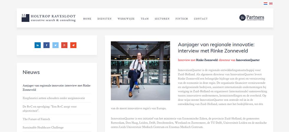 Aanjager van regionale innovatie: interview met Rinke Zonneveld