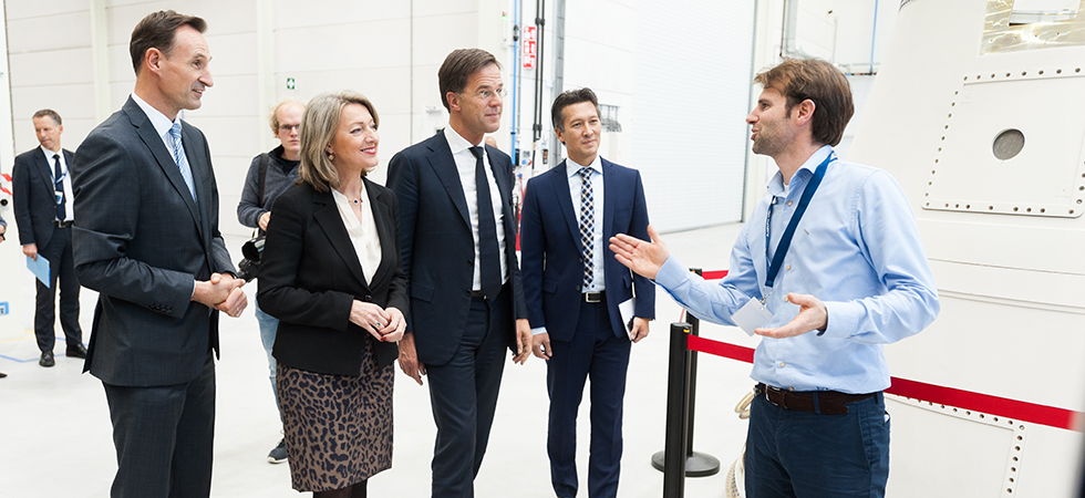 Prime minister Rutte opens new Airbus production facility in West Holland 1 photography Vega